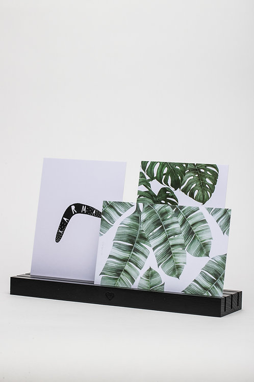 Kartenhalter mit drei Fächern (schwarz)