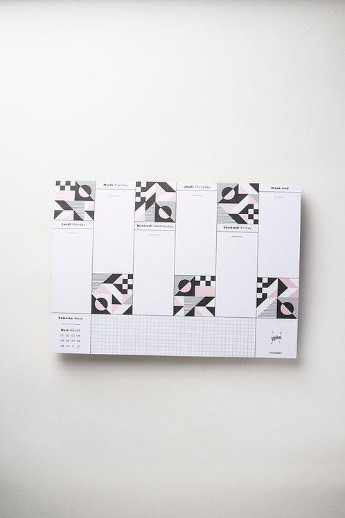 "Weekly Desk Planner ""MACDAM"" (A4)"