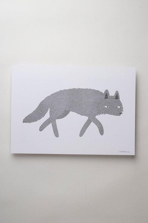 "Risograph Art Print ""Wolf"" (A4)"