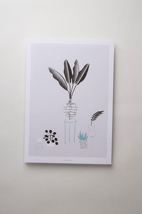 "Art Print ""The plants"" (A4)"