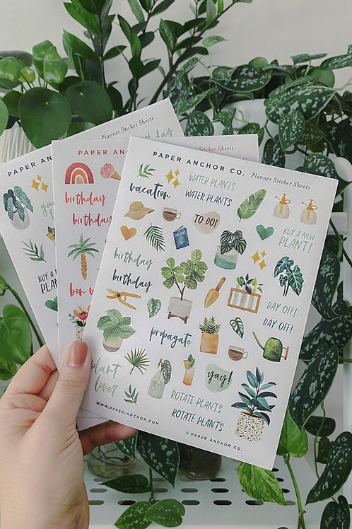 """Sticker Sheets """"Plant Lover"""""""
