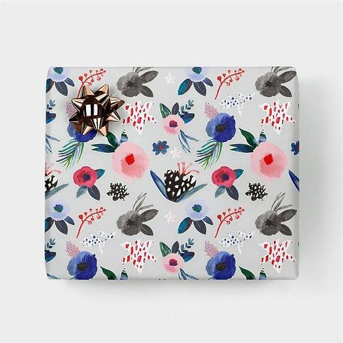 """Geschenkpapier """"Scandi Bloom"""" (gefaltet)"""