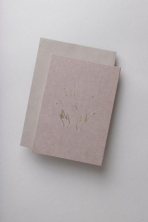 """Grußkarte """"A hand full of stars"""" (Letterpress)"""