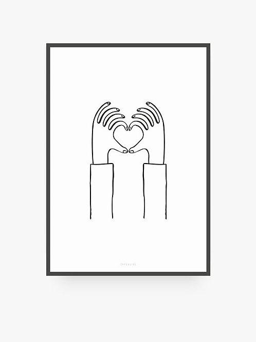 "Art Print ""Heart you"" (A4)"