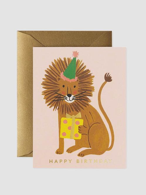 """Grußkarte """"Birthday Lion"""""""
