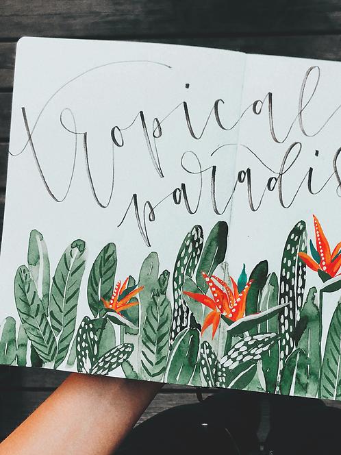 Lettering & Watercolor Illustration Workshop