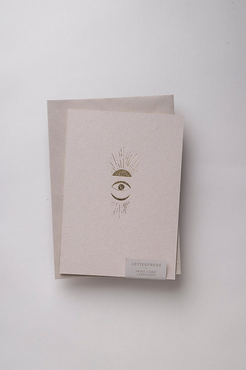 "Karte A5 ""Celestial Soul"" (Letterpress)"