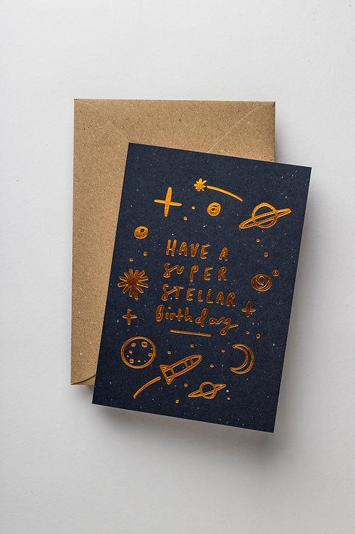 """Grußkarte """"Super stellar Birthday"""""""
