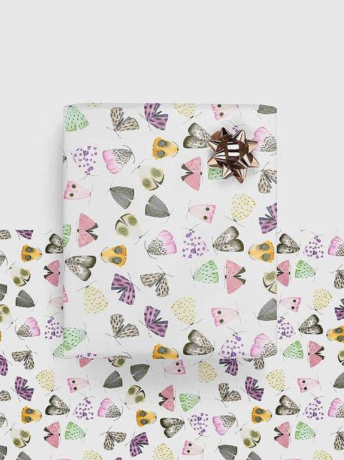 """Geschenkpapier """"Moths"""" (gefaltet)"""
