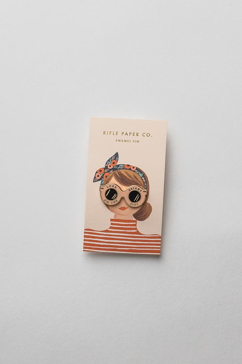 """Enamel Pin """"Look on the bright side"""""""