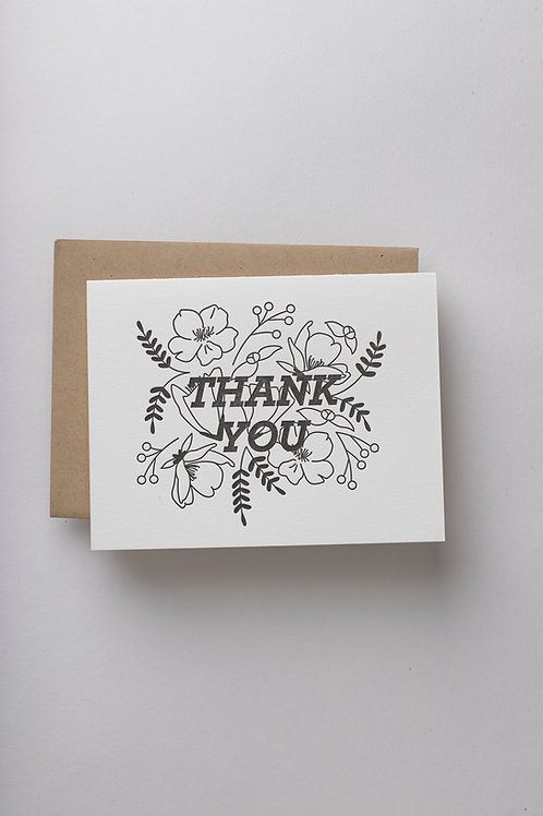"Grußkarte ""Thank you"" (Letterpress)"