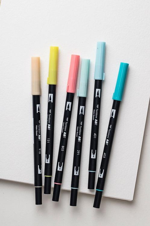 """ABT Brush Pen """"Candy Colours"""" (6er Pack)"""