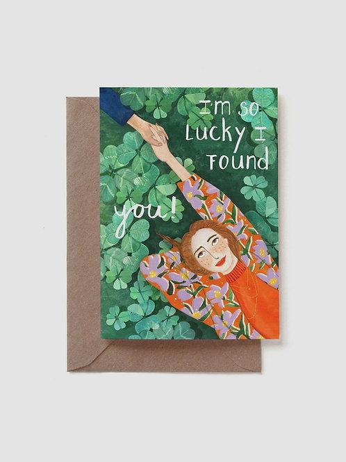 """Grußkarte """"I'm so lucky"""""""