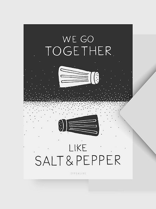 "Postkarte ""Salt and Pepper"""