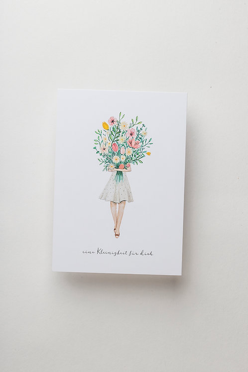 "Postkarte ""Blumenmädchen"""