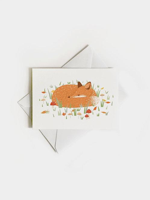 """Grußkarte """"Sleeping Fox"""""""