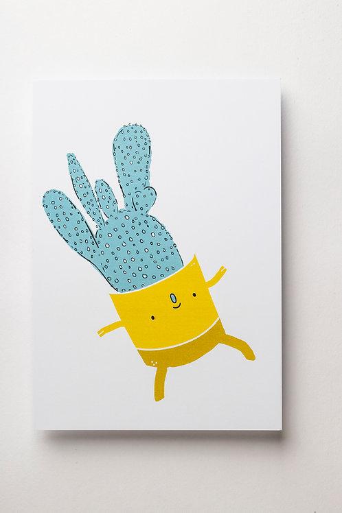 """Art Print """"Dancing Cactus"""" (A5)"""