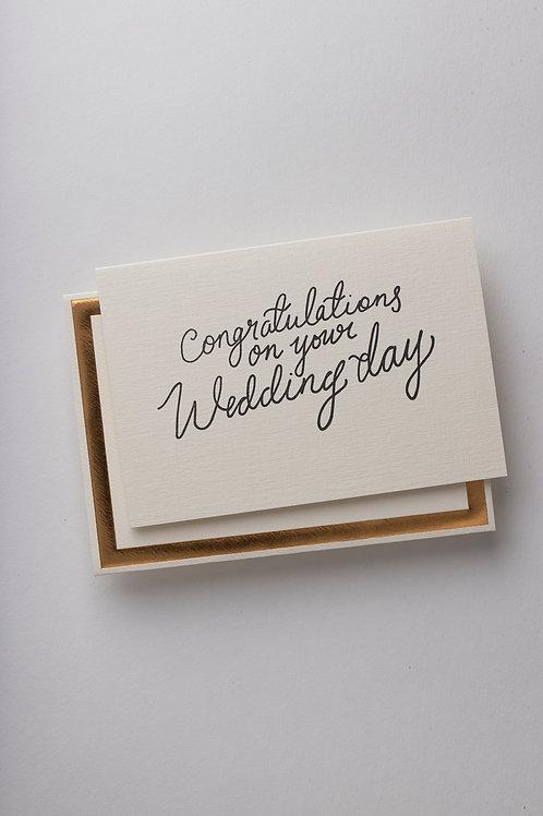 "Grußkarte ""Wedding day"""