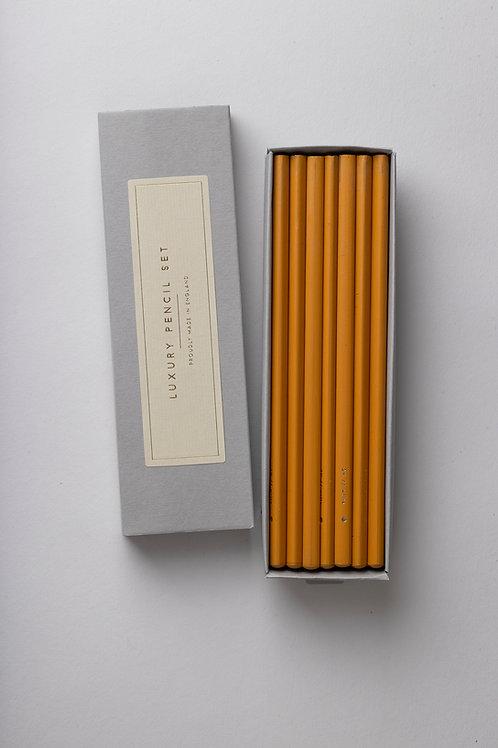 "Luxury Pencil Set ""Mustard"""