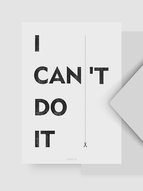 "Postkarte ""I can"""