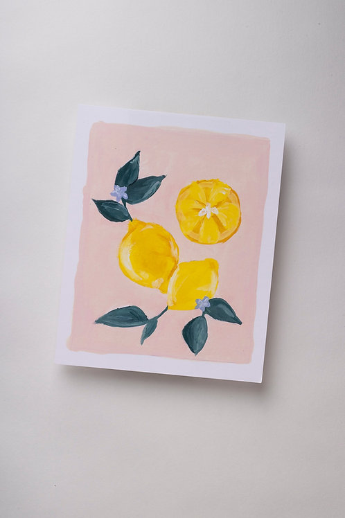 "Art Print ""Lemons in Gouache"" (8x10'')"