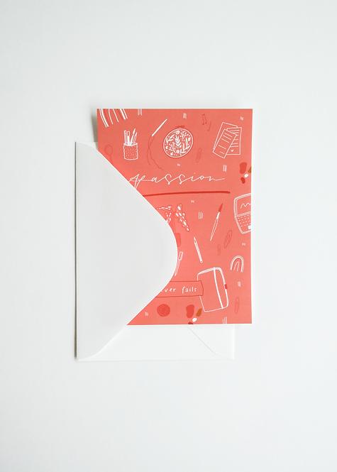 """Card """"Passion"""" mit Umschlag"""