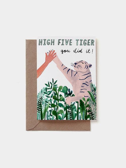 """Grußkarte """"High five tiger"""""""