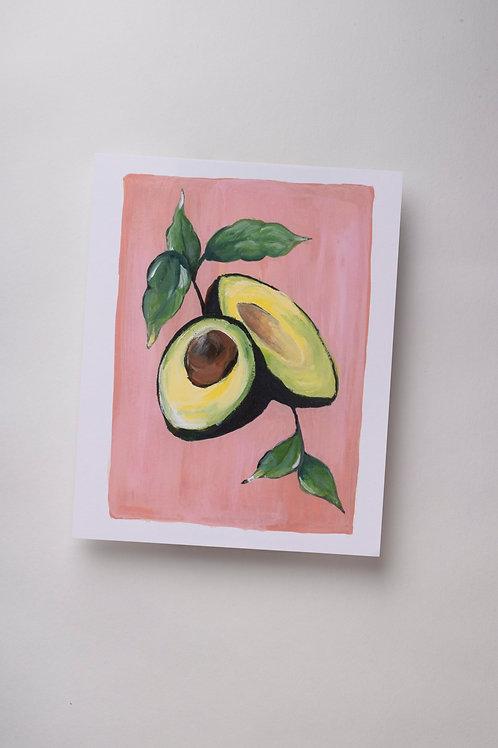 """Art Print """"Avocados in Gouache"""" (8x10'')"""