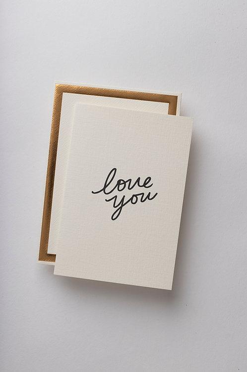 "Grußkarte ""love you"""