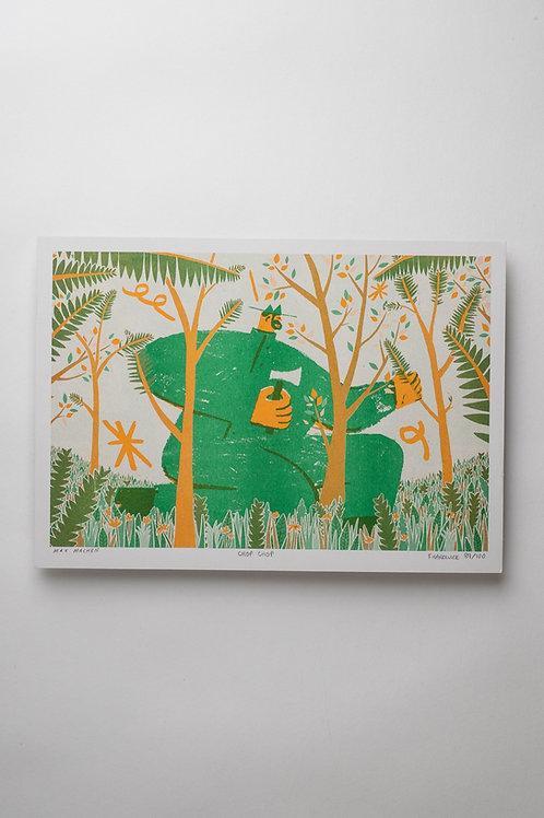 """Risograph Art Print """"Chop Chop"""" (A4)"""