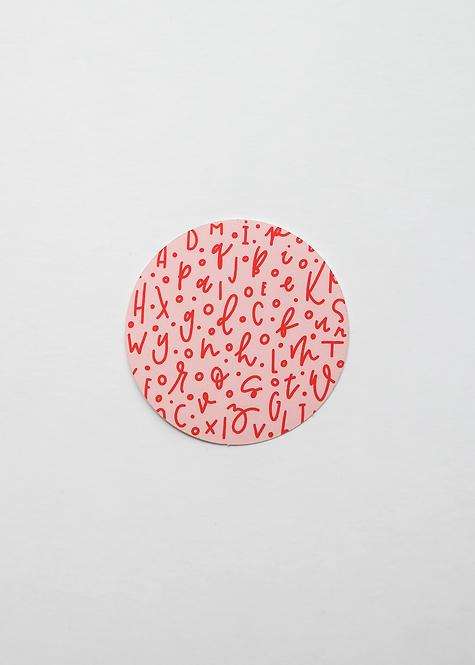 "Sticker ""Letter Love"""