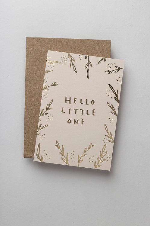 "Grußkarte ""Hello little one"" (botanical)"