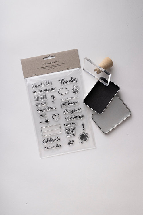 Monograph Clear Stamps Set
