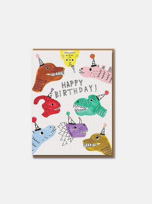 "Grußkarte ""Birthday Dinos"""