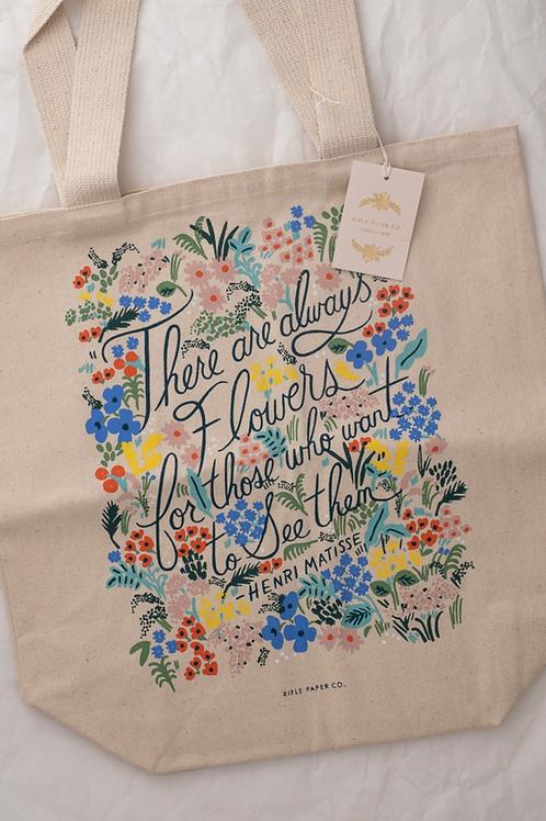 """Tote Bag """"Seeing flowers"""""""