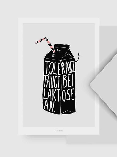 """Postkarte """"Laktose"""""""