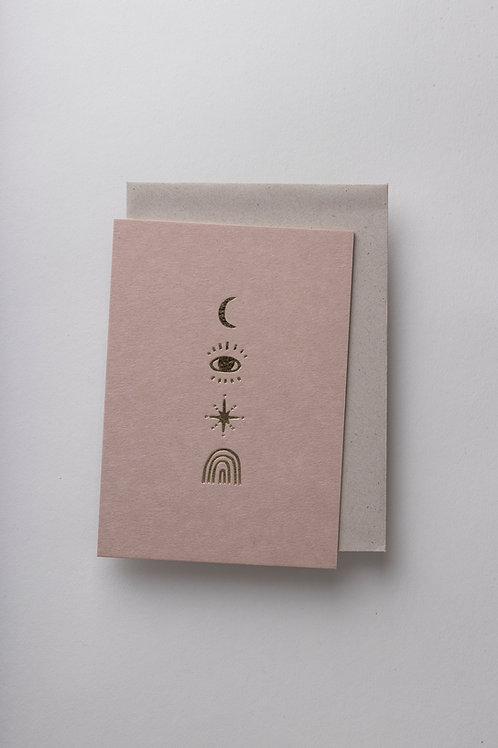 "Grußkarte ""Cosmic Symbols"" (Letterpress)"