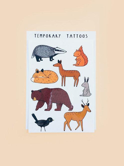 """Tattoos """"Woodland Animals"""""""