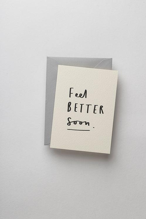 "Mini Grußkarte ""Feel better soon"""