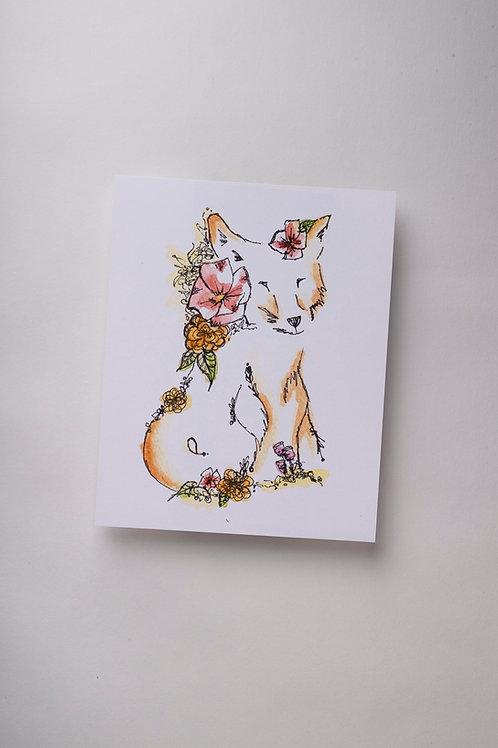 "Art Print ""Fox Lines"" (8x10'')"
