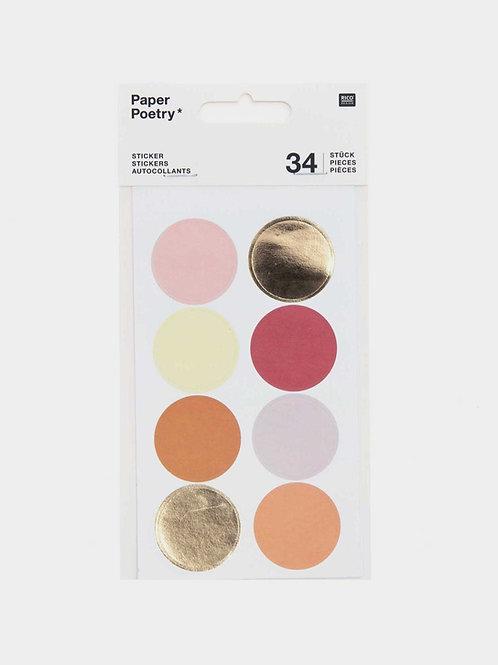 "Sticker Sheets ""Dots & Stripes"" (34 Sticker)"