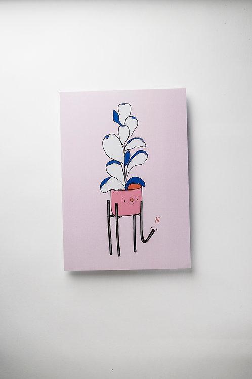"""Art Print """"Ficus says hi"""" (A4)"""