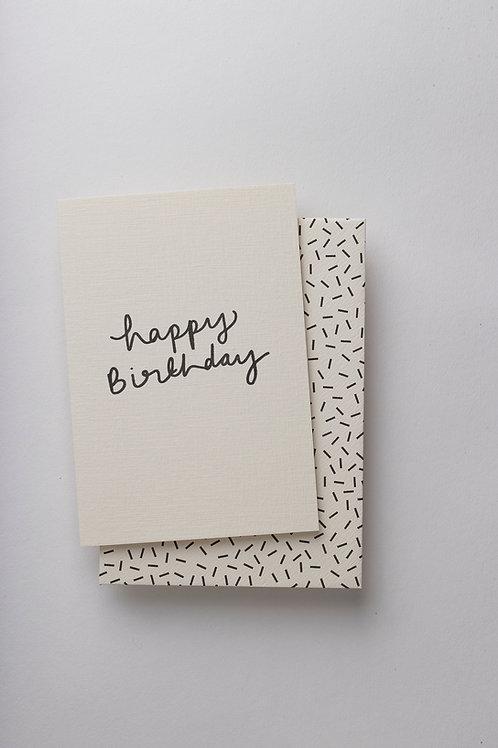"""Grußkarte """"Happy B-day handwritten"""""""