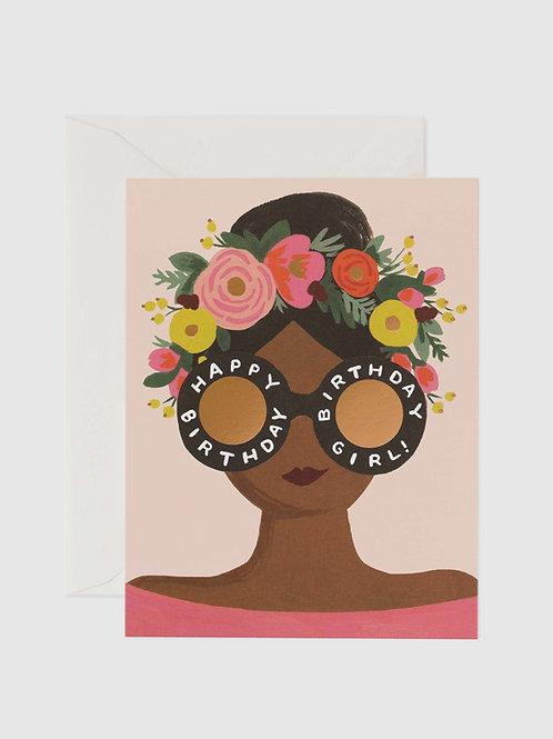 "Grußkarte ""Flower Crown Birthday Girl"""