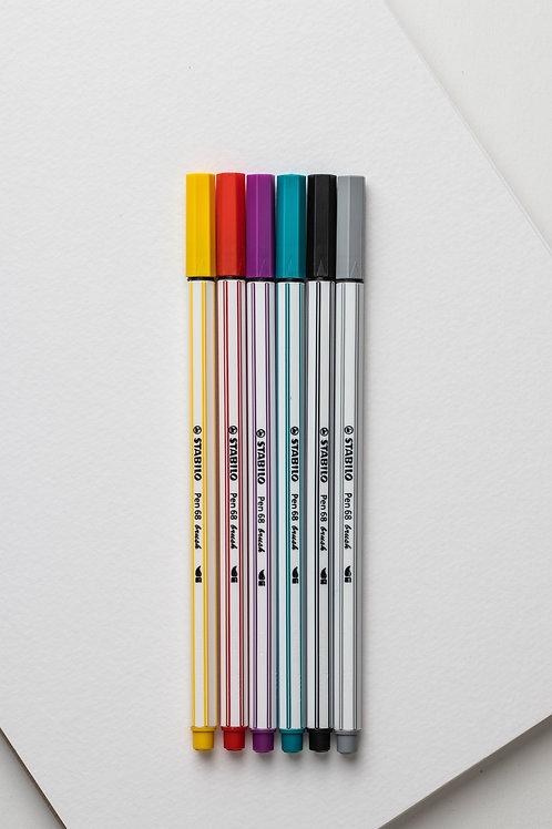 Stabilo Pen 68 Brush (6er Pack)