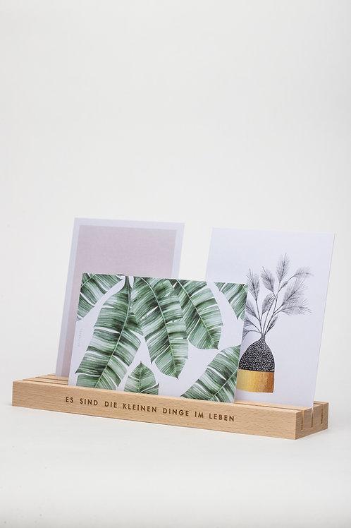 Kartenhalter mit drei Fächern (natur)