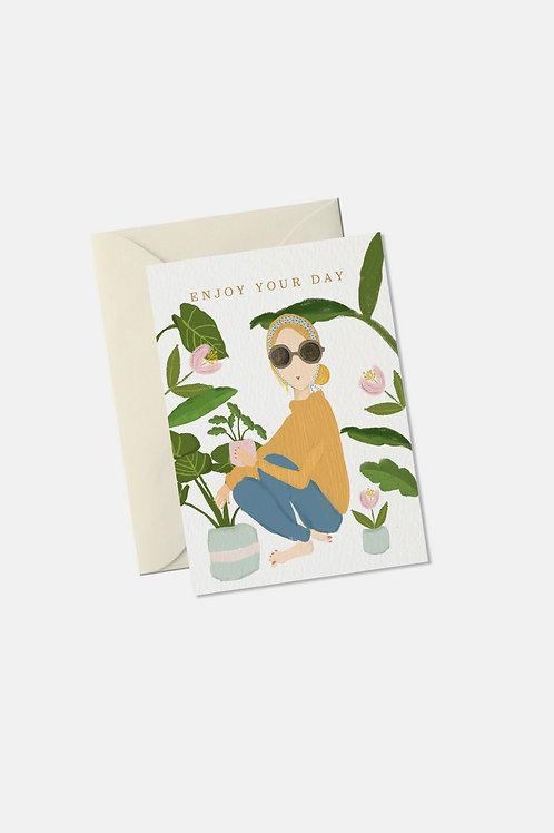 "Mini Grußkarte ""Enjoy your day"""