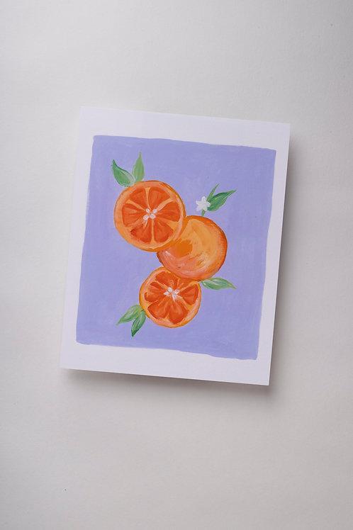 """Art Print """"Grapefruits in Gouache"""" (8x10'')"""