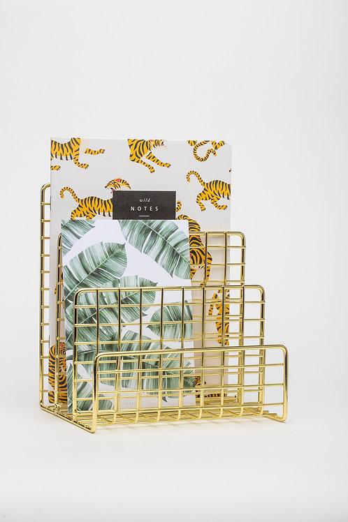 Desk Organizer für Papier (gold)