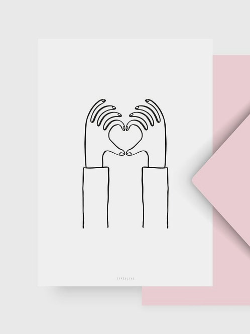 "Postkarte ""Heart you"""